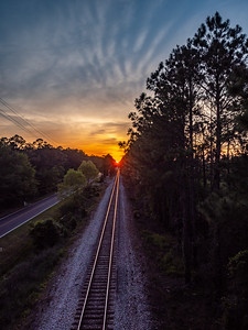 Sunset on the rails
