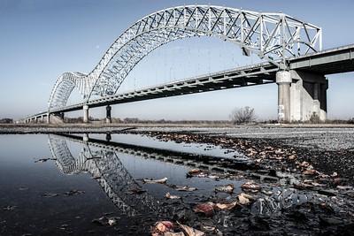 Hernando De Soto Bridge Reflection