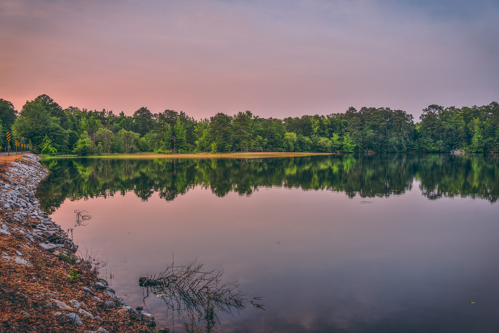 Purple Lake Reflection
