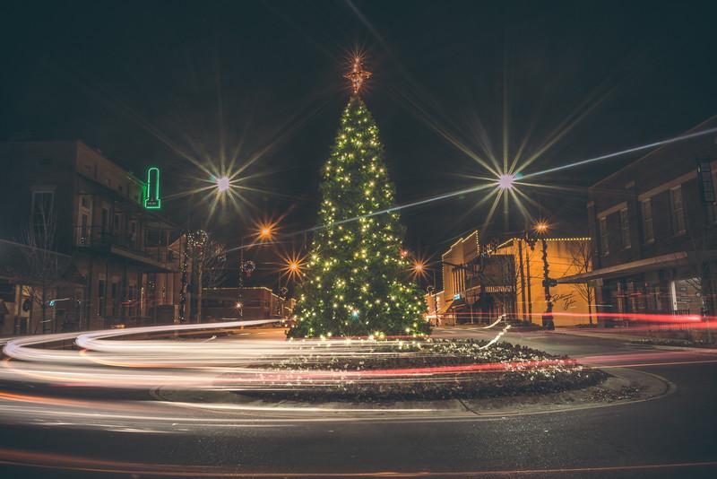 Christmas Tree Light Trails