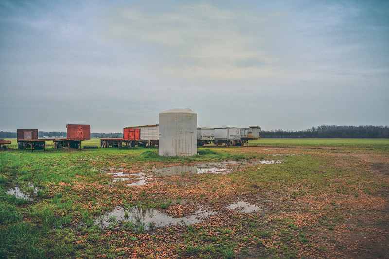Trailers in a Field