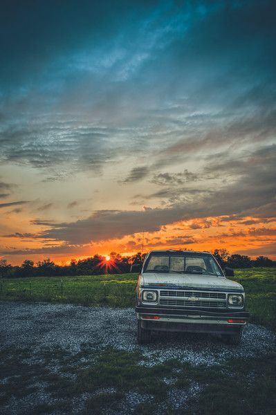 Chevy and a Sunset