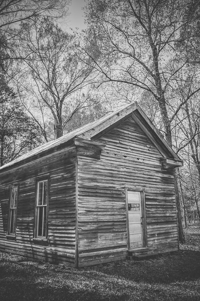 Black & White Schoolhouse