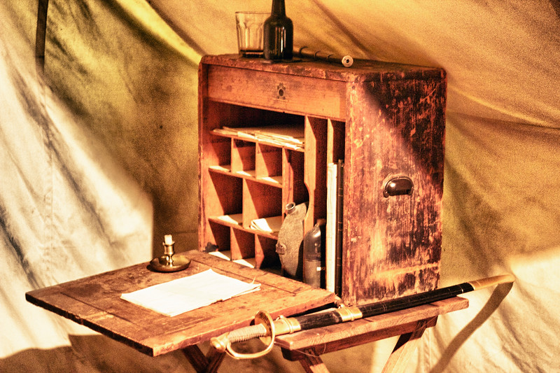 Civil War officers desk.
