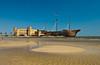 The Treasure Bay Casino and sandy beach in Biloxi, Mississippi, USA, America.