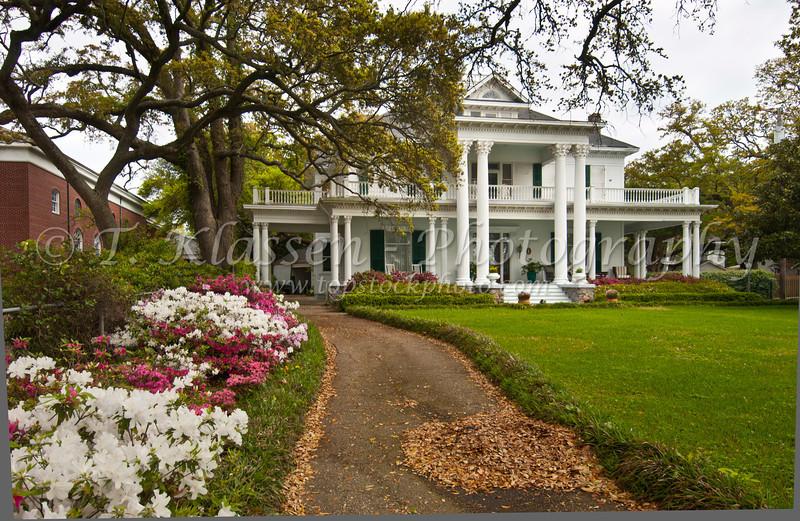 A large antebellum home in Biloxi, Mississippi, USA, America.