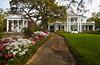 Large antebellum homes in Biloxi, Mississippi, USA, America.
