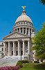 The Mississippi state capital building in Jackson, Mississippi, USA, America.