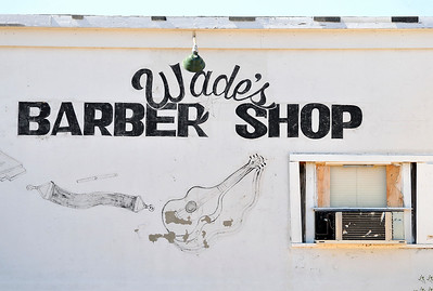 Wades Barber Shop famous blues barber, cut the hair of Ike Turner, Sonny Boy Williamson and recorded blues.