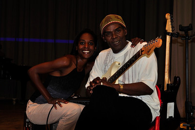 Bill and Sharo Perry playing the blues at Coahoma County High School.