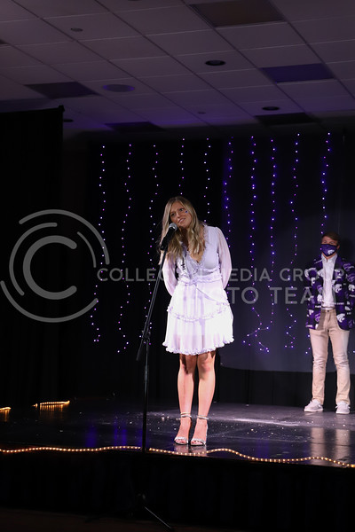 Pi Beta Phi representative Mattie Lane showing off her school pride in round one of the Miss.K-State competition. <br /> Elizabeth Proctor Collegian Media Group