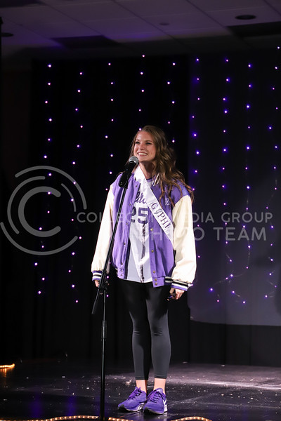 Gamma Phi Beta representative molly Kaiser showing off her school pride in round one of the Miss.K-State competition. <br /> Elizabeth Proctor Collegian Media Group