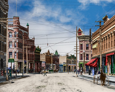 Front Street Downtown Missoula circa 1900