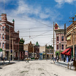 Front Street in Missoula around the turn of the century.