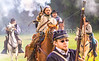 Confederate cavalry chase Union soldiers at Centralia, MO, 150th anniversary reenactment - C1-0356 - 72 ppi-3