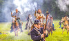 Confederate cavalry chase Union soldiers at Centralia, MO, 150th anniversary reenactment - C1-2 - 72 ppi-3
