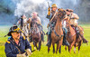 Confederate cavalry chase Union soldiers at Centralia, MO, 150th anniversary reenactment - C1-0351 - 72 ppi-2