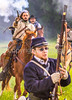 Confederate cavalry chase Union soldiers at Centralia, MO, 150th anniversary reenactment - C1-0356 - 72 ppi - 3