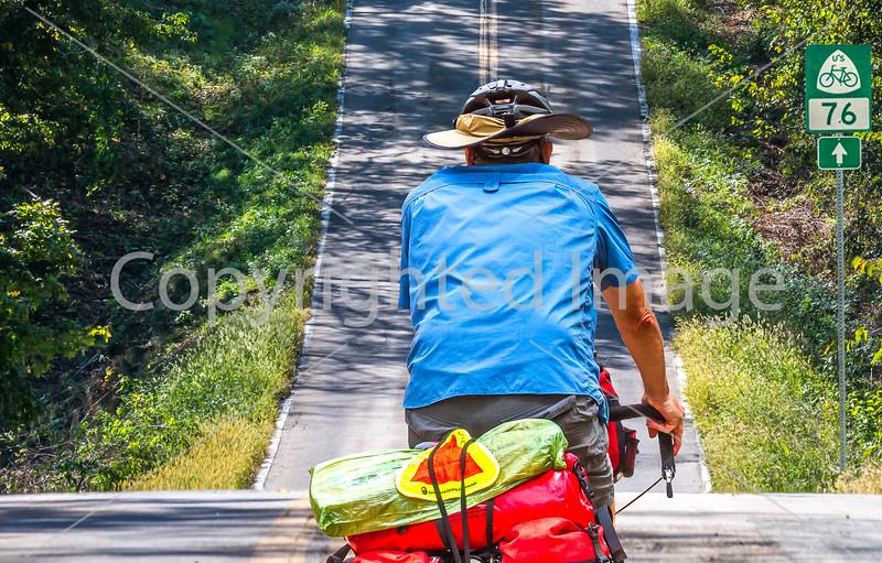 TransAm rider near Mississippi River, Bike Rte 76 &  Missouri Hwy D, on way to Farmington - C1- - 72 ppi-2