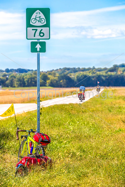 TransAm riders 2 miles west of Mississippi River, Missouri Hwy 51 - C1- - 72 ppi