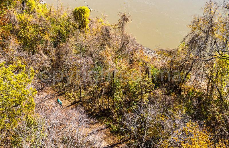 Cyclists (look hard) on Katy Trail near Weldon Springs trailhead in Missouri - C1-0123 - 72 ppi-2