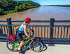 Cyclist on bridge over Missouri River at Hermann, Missouri - C2-0093 - 72 ppi-2