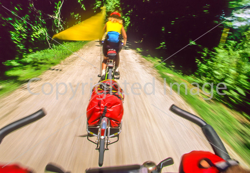 Touring biker on Katy Trail near Defiance, MO - 1 - 72 ppi