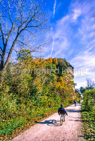 Biker(s) on Missouri's Katy Trail - 131-2 - 72 ppi