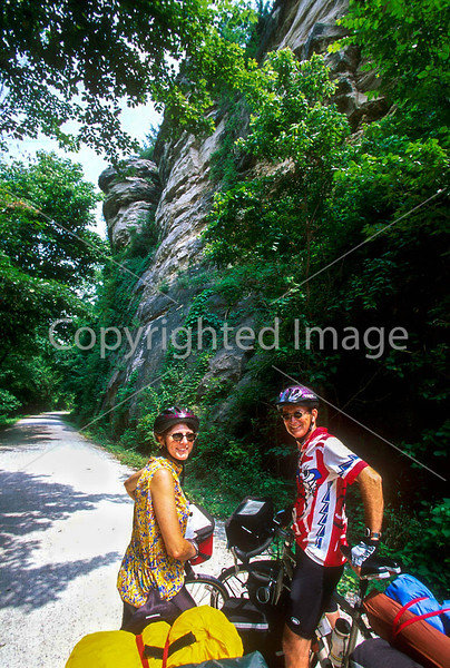 Tourers on Katy Trail near Rocheport, Missouri - 1 - 72 ppi