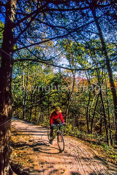 Biker on connecting trail near Rocheport to Missouri's Katy Trail - 103 - 72 ppi