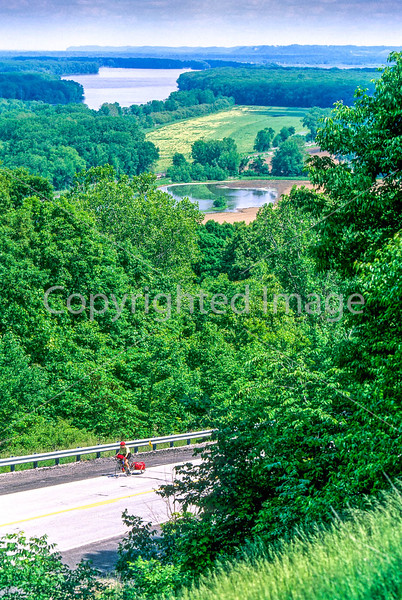 Cyclist along Mississippi River on Missouri's Hwy 79 - 4 - 72 ppi