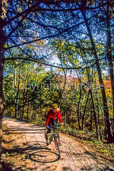 Biker on connecting trail near Rocheport to Missouri's Katy Trail - 104 - 72 ppi