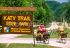 Touring cyclists on Katy Trail near Rocheport, Missouri, along Missouri River - 3 - 72 ppi