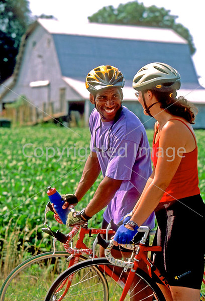 Touring cyclists just before setting up camp just west of St Louis, Missouri - -5 - 72 ppi
