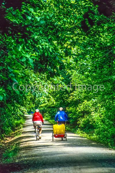 Biker(s) on Missouri's Katy Trail - 112-2 - 72 ppi