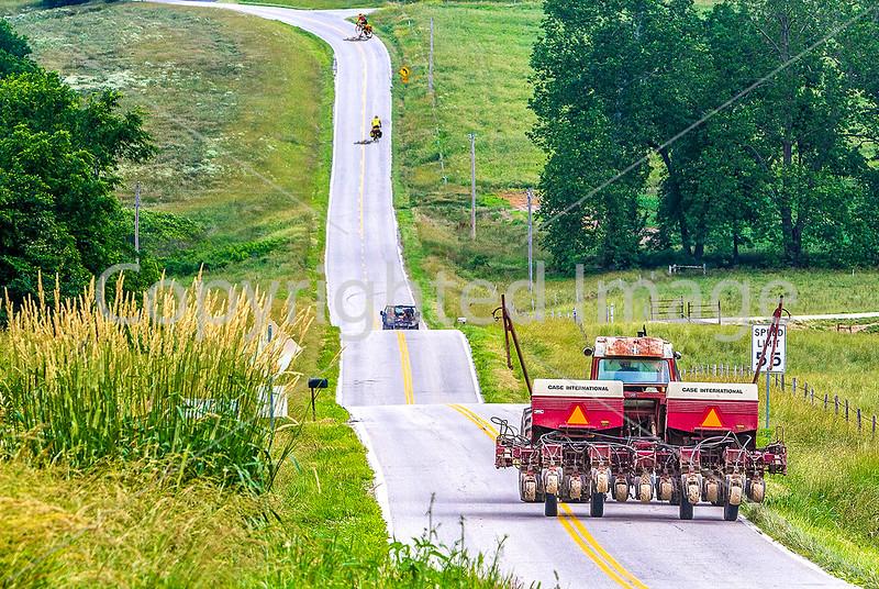 Cyclists on State Road (SR) Y near Dissen, Missouri - C1-0004 - 72 ppi