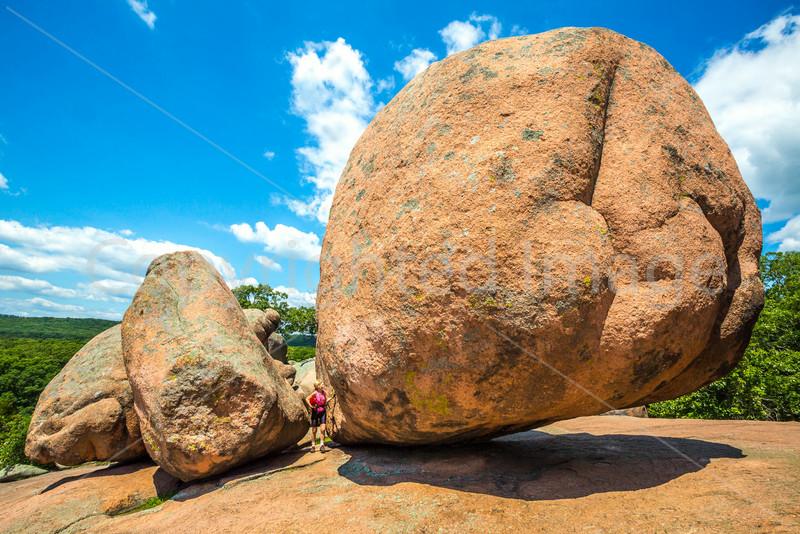 Cyclist at Missouri's Elephant Rocks State Park-0208 - 72 ppi