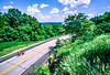 Cyclist on MO Hwy 79 between Hannibal & Louisiana - Great Rivers Route - 3 - 72 ppi