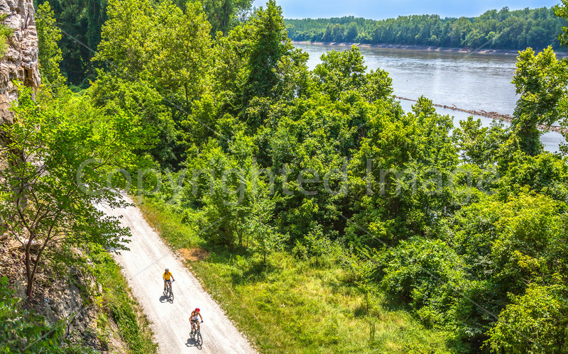 Cyclist(s) on Missouri's Katy Trail near Rocheport - C3-0050 - 72 ppi-2