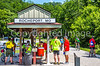Cyclist(s) on Katy Trail at Rocheport trailhead - C3-0274 - 72 ppi