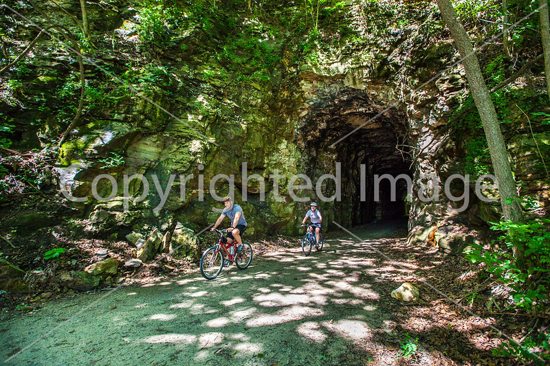 Cyclist(s) on Katy Trail; tunnel near Rocheport - C2-A-0107 - 72 ppi