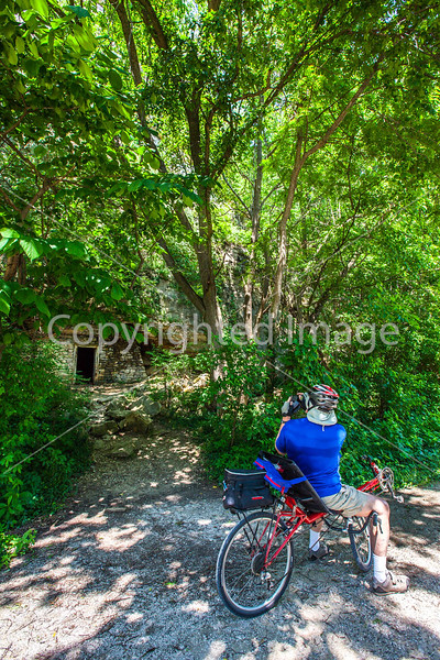 Cyclist(s) on Katy Trail, Rocheport to MKT turnoff for Columbia - C2-B-0035 - 72 ppi
