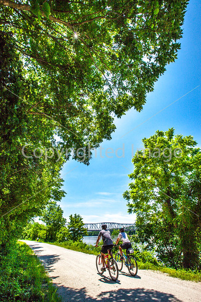 Cyclist(s) on Katy Trail, Rocheport to MKT turnoff for Columbia - C2-A-0338 - 72 ppi
