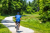 Cyclist(s) on Katy Trail, Rocheport to MKT turnoff for Columbia - C3-0205 - 72 ppi