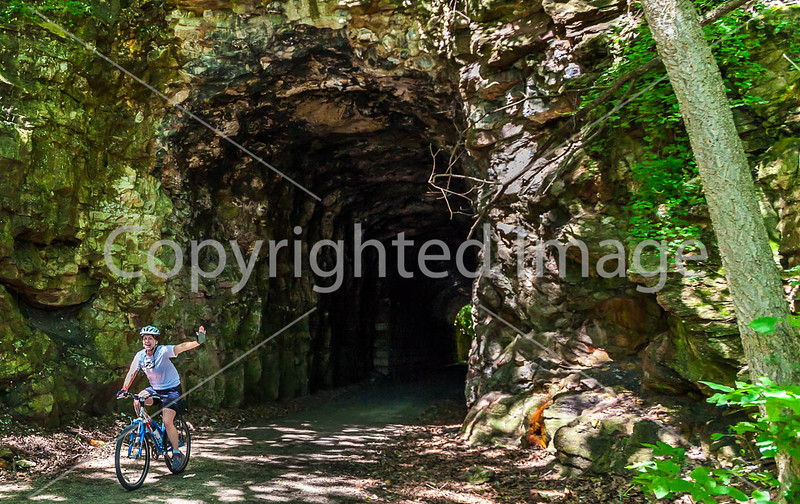 Cyclist(s) on Katy Trail; tunnel near Rocheport - C2-A-0108 - 72 ppi