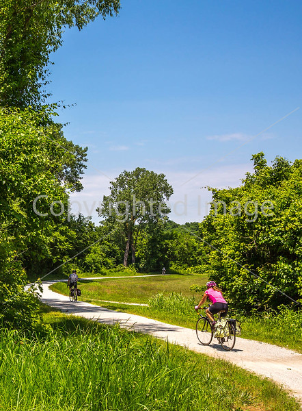 Cyclist(s) on Katy Trail, Rocheport to MKT turnoff for Columbia - C3-0220 - 72 ppi-2
