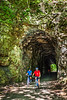 Cyclist(s) on Katy Trail; tunnel near Rocheport - C2-A-0100 - 72 ppi