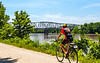 Cyclist(s) on Katy Trail, Rocheport to MKT turnoff for Columbia - C2-A-0332 - 72 ppi-2