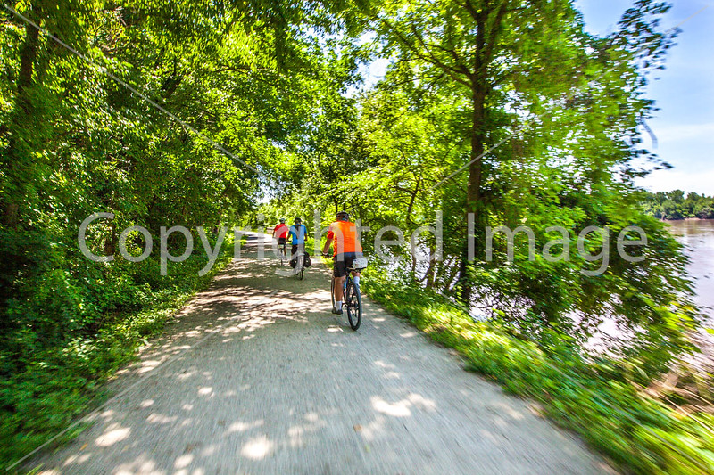 Cyclist(s) on Katy Trail, Rocheport to MKT turnoff for Columbia - C2-A-0291 - 72 ppi