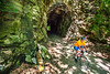 Cyclist(s) on Katy Trail; tunnel near Rocheport - C2-A-0181 - 72 ppi